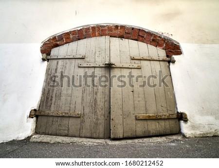 antika · model · ahşap · kahverengi · kapı - stok fotoğraf © lunamarina