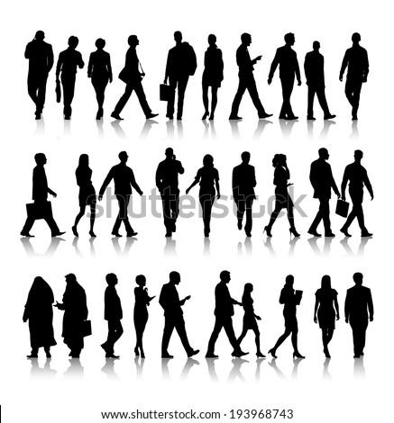 Composite image of silhouette of businesswoman holding clipboard Stock photo © wavebreak_media