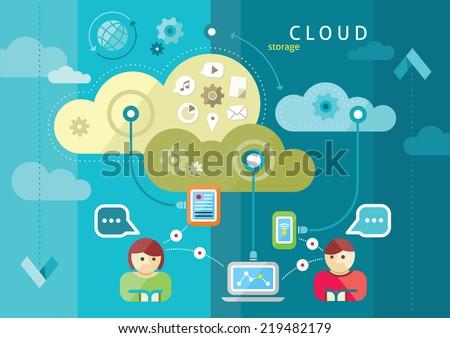 Laptop global digital comunicação mundo Foto stock © fenton