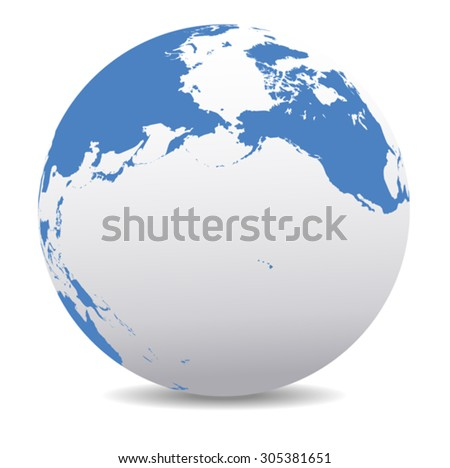 Foto stock: Pacific Rim North America Canada Siberia Russia And Hawaii Glo