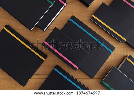 Schedule notepad business agenda with leather covers top view Stock photo © stevanovicigor