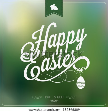 Happy Easter Typographical Background Stock photo © fresh_5265954