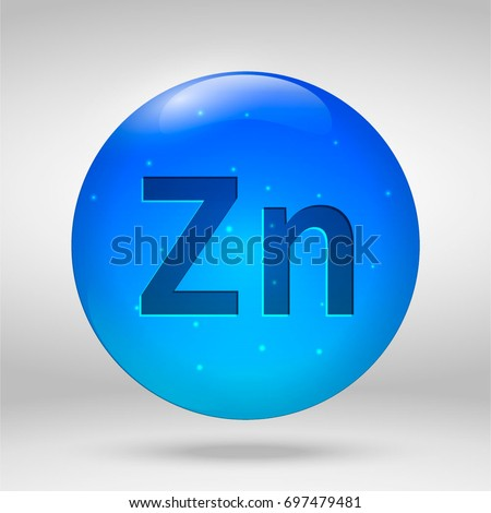 illustration of Zinc mineral. Glossy drop pill capsule and vitamin complex. Healthy life medical die Stock photo © tussik