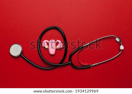 reproductive system treatment with pills female uterus and colo stock photo © tefi