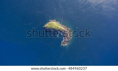 Fotó gyönyörű természet kilátás tenger sziget Stock fotó © Massonforstock