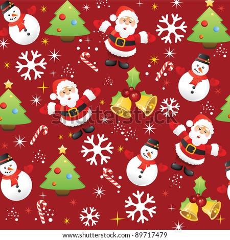 santa seamless pattern christmas wallpaper xmas repetitive decoration stock photo © redkoala