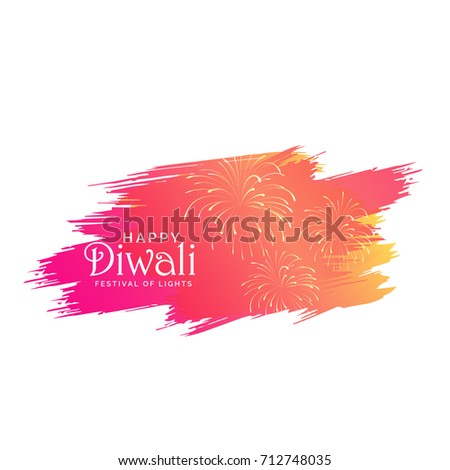 diwali background made with pink paint brish stroke and crackers Stock photo © SArts