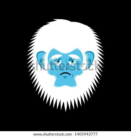 Triste emoção cara boneco de neve melancolia avatar Foto stock © popaukropa