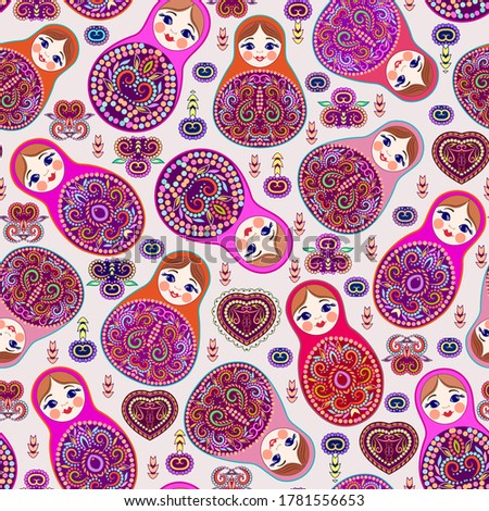 кукол · традиционный · русский · цветочный · шаблон - Сток-фото © redkoala