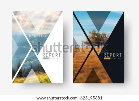 Ayarlamak üç soyut en az broşür tasarım şablonu Stok fotoğraf © SArts