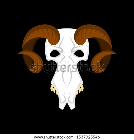 Ram skull isolated. Religion Totem animal symbol. Object for wit Stock photo © popaukropa