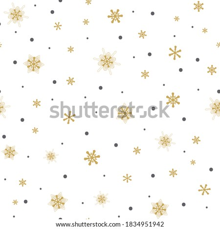 Christmas white snowflake seamless pattern, dot art vector design, Australian folk art, Aboriginal s Stock photo © RedKoala