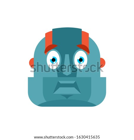 Robot korkmuş omg avatar cyborg benim Stok fotoğraf © popaukropa