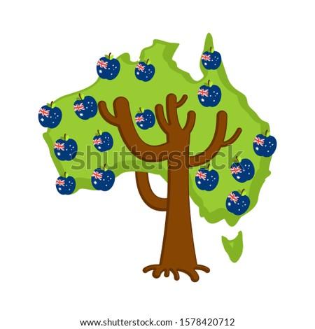 愛国的な リンゴの木 オーストラリア 地図 リンゴ オーストラリア人 ストックフォト © popaukropa