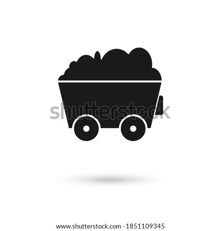 Trolley of Coal isolated. Mining Extraction mineral. Vector illu Stock photo © MaryValery