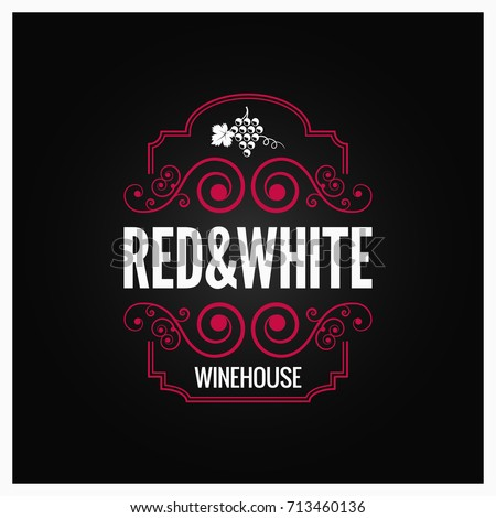 Wine, winery logo template. Winehouse logotype. Vine bottle icon and typography design. Winery, prem Stock photo © JeksonGraphics
