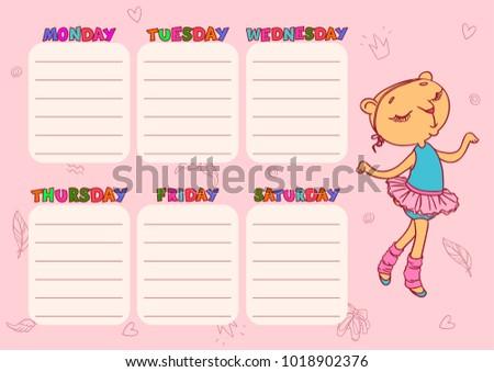 Horário escolas bonitinho vetor modelo crianças Foto stock © vasilixa