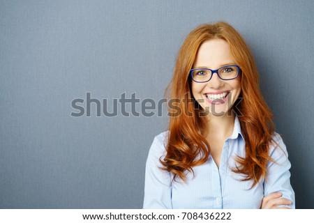 Retrato mujer hermosa gafas blanco primer plano mujer Foto stock © wavebreak_media