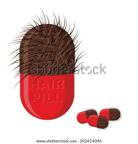 Pillole capelli crescita peloso tablet sfondo Foto d'archivio © popaukropa