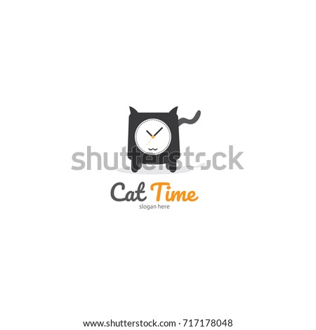 Cat Logo template. Cat and watch concept for hobbies, cat lover, app, web, pet shop, or services. ve Stock photo © taufik_al_amin
