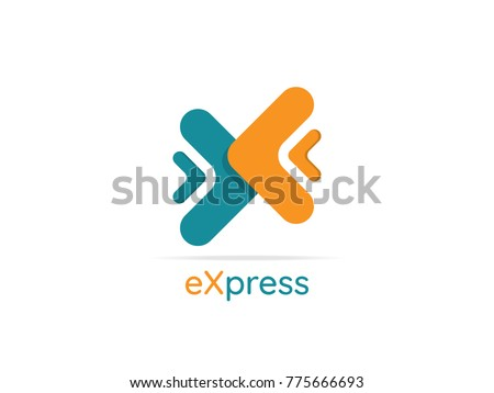 logistic delivery courier service logo. money finance or interne Stock photo © taufik_al_amin