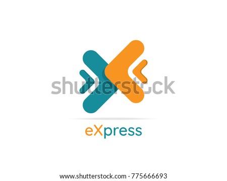 logistic delivery courier service logo. money finance or interne stock photo © taufik_al_amin