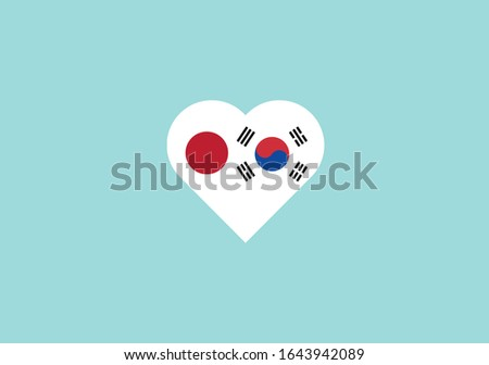Japan economics vector illustration with japanese flag and business chart, bar chart stock numbers b Stock photo © m_pavlov