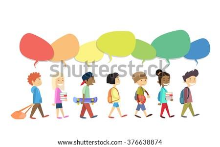 Grupy uczniowie wektora szkoły Zdjęcia stock © pikepicture