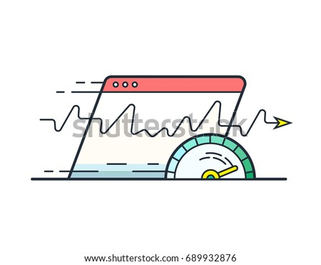 Web browser window with speedometer testing - website page load  Stock photo © gomixer