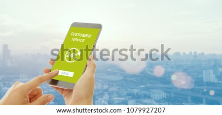 On line assistant. Business customer care service concept. Icons set of contact us, support, help, p Stock photo © makyzz