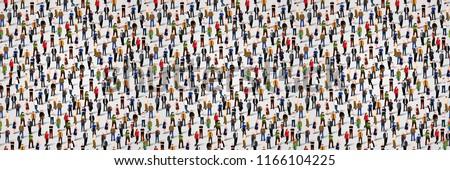 Büyük bir grup insanlar iş adamları takım çalışması vektör Stok fotoğraf © makyzz
