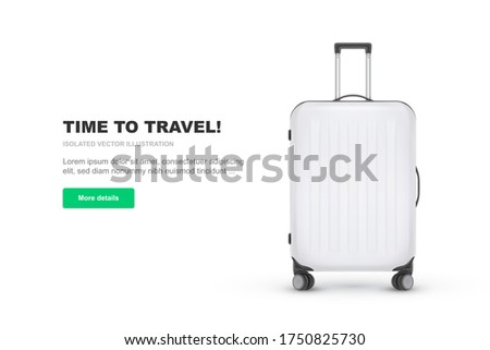 Realistic Polycarbonate Suitcase, Baggage for Tourism, on Yellow Background Stock photo © smeagorl