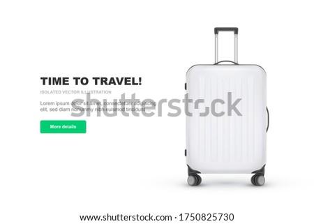 реалистичный чемодан багаж туризма желтый лет Сток-фото © smeagorl