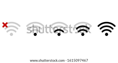 Wifi connection signal icon with exclamation mark in the circle. vector illustration isolated on mod Stock photo © kyryloff