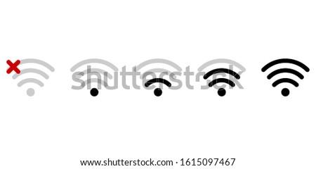 Wifi connexion signal icône point d'exclamation cercle Photo stock © kyryloff
