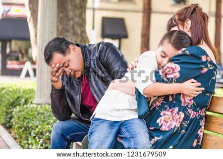 Kaukázusi anya spanyol apa megnyugtató félvér Stock fotó © feverpitch