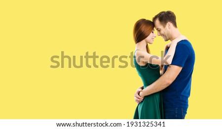 счастливым молодые любящий пару танцы изолированный Сток-фото © deandrobot
