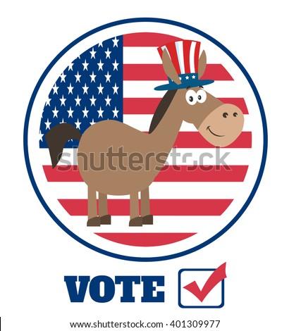 Demokrata szamár rajzfilmfigura nagybácsi kalap USA Stock fotó © hittoon
