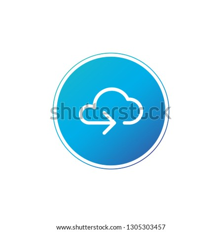 Data cloud circle button. Backup, restore. Upload, download. Arrow as a part of cloud. Vector illust Stock photo © kyryloff