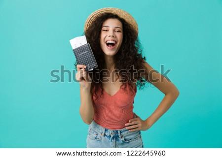 Foto caucásico rizado mujer 20s Foto stock © deandrobot
