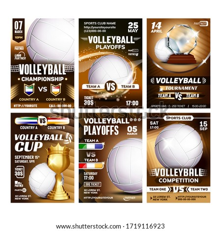 volleyball award vector volleyball ball golden cup sports game event announcement volleyball ban stock photo © pikepicture