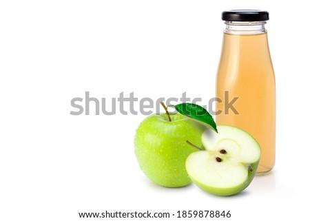 üveg friss organikus almalé nagyi brit Stock fotó © DenisMArt