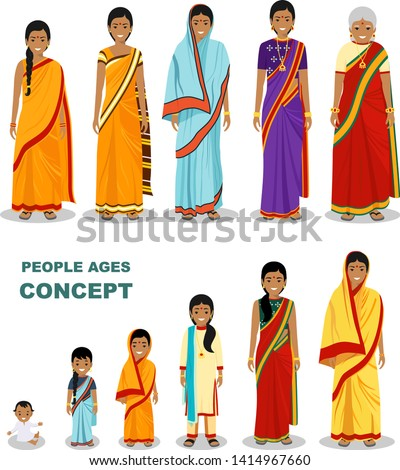 Indiai generáció női szett emberek személy Stock fotó © pikepicture