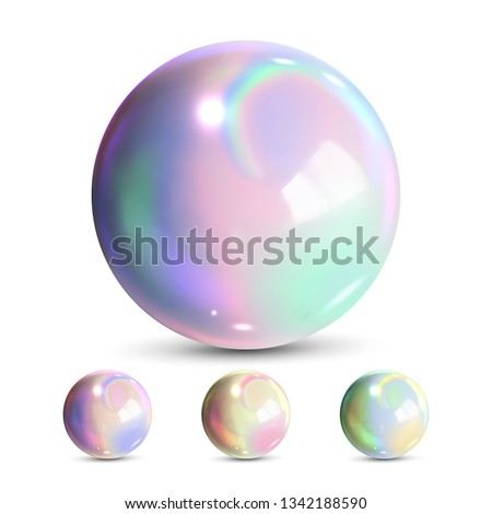 Sphere Ball Vector. Orb Shining. Magic Globe. Fluid Element. Jeweler Perl. Shine Glowing Metal Or Pl Stock photo © pikepicture