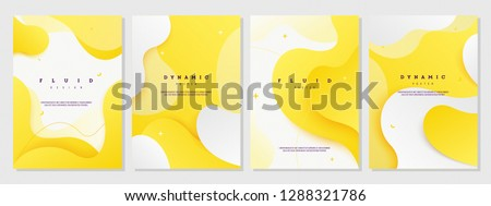 Abstract Liquid Fluid Background Set Vector. Vibrant Shape Cover. Music Paint. Colorful Style. Beaut Stock photo © pikepicture