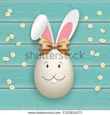 Naturalnych easter egg turkus Daisy zając Zdjęcia stock © limbi007