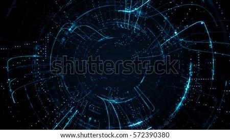 цифровой · частицы · технологий · красивой · свет · эффект - Сток-фото © designleo