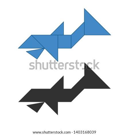 鯨 伝統的な 中国語 パズル 7 ストックフォト © kyryloff