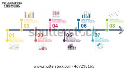 Zaman Çizelgesi tanıtım yıl infographics dizayn vektör Stok fotoğraf © kyryloff