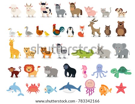 Cute cartoon donkey isolated on white background. Vector illustration in sketch style. Stylized wate Stock photo © Arkadivna